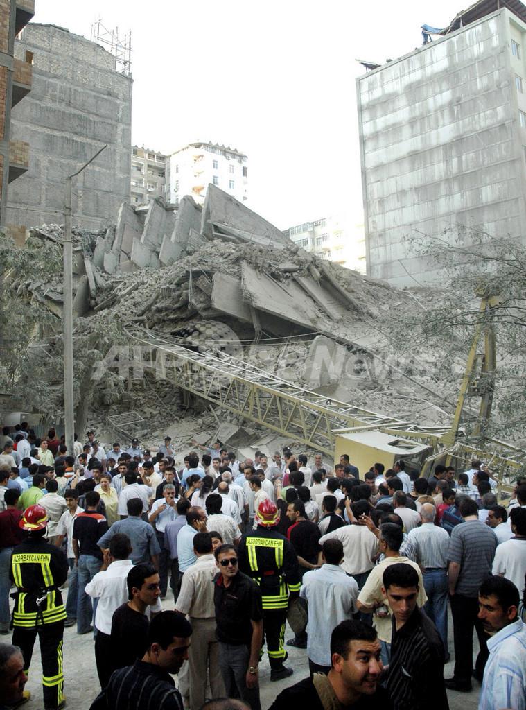 アゼルバイジャンの高層ビル崩落事故、死者5人に