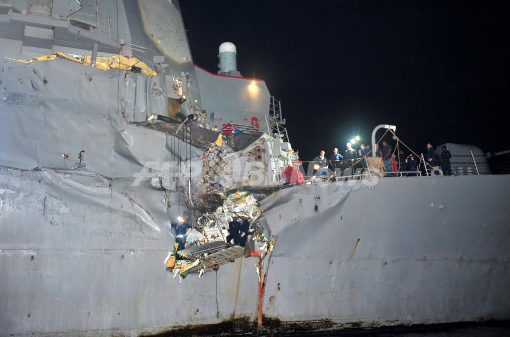 日本の石油タンカーが米駆逐艦と衝突、ホルムズ海峡近海
