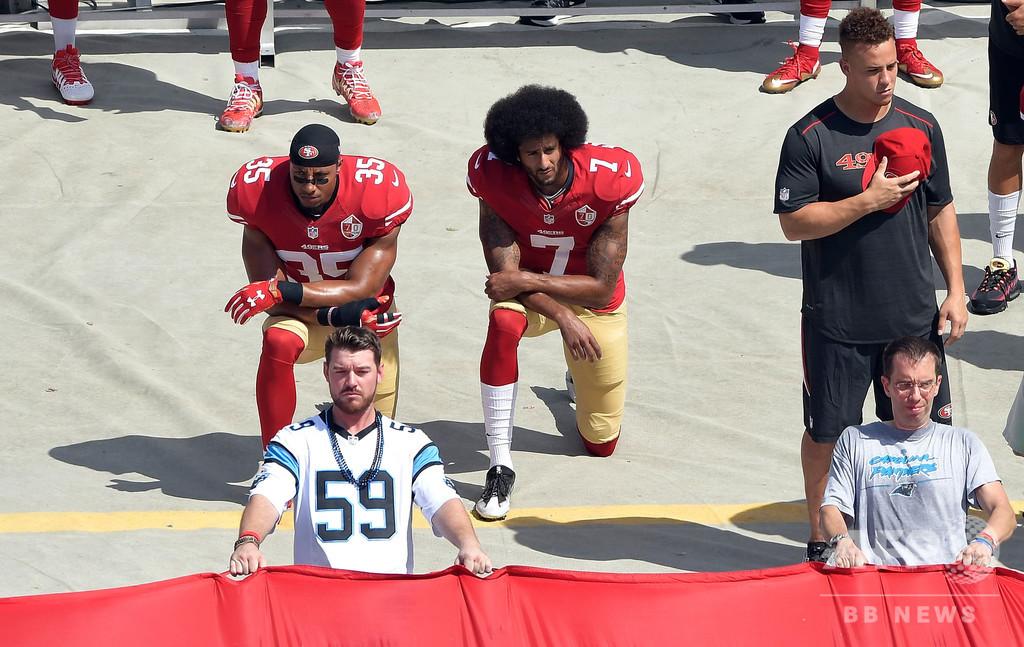 トランプ大統領がNFLに疑問呈す、膝つき抗議への方針転換に