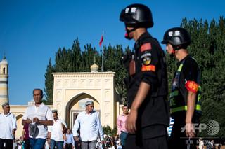 中国によるウイグル人強制収容、米議員団がトランプ政権に制裁要求