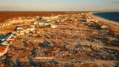動画:ハリケーン被災、米フロリダ州に広がる荒廃した地域 ドローン映像
