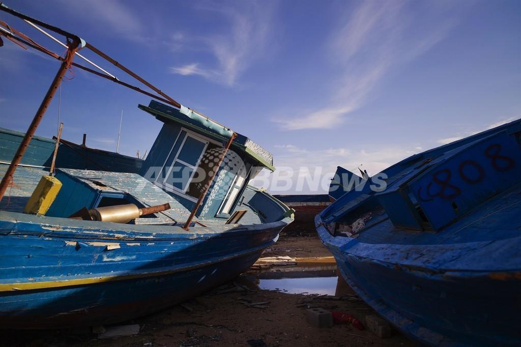 地中海でまた難民船沈没、死者多数