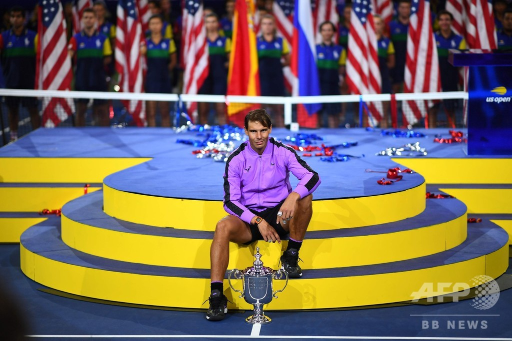 ナダルが4回目の全米OP制覇、メドベージェフとの激闘制しGS19勝目