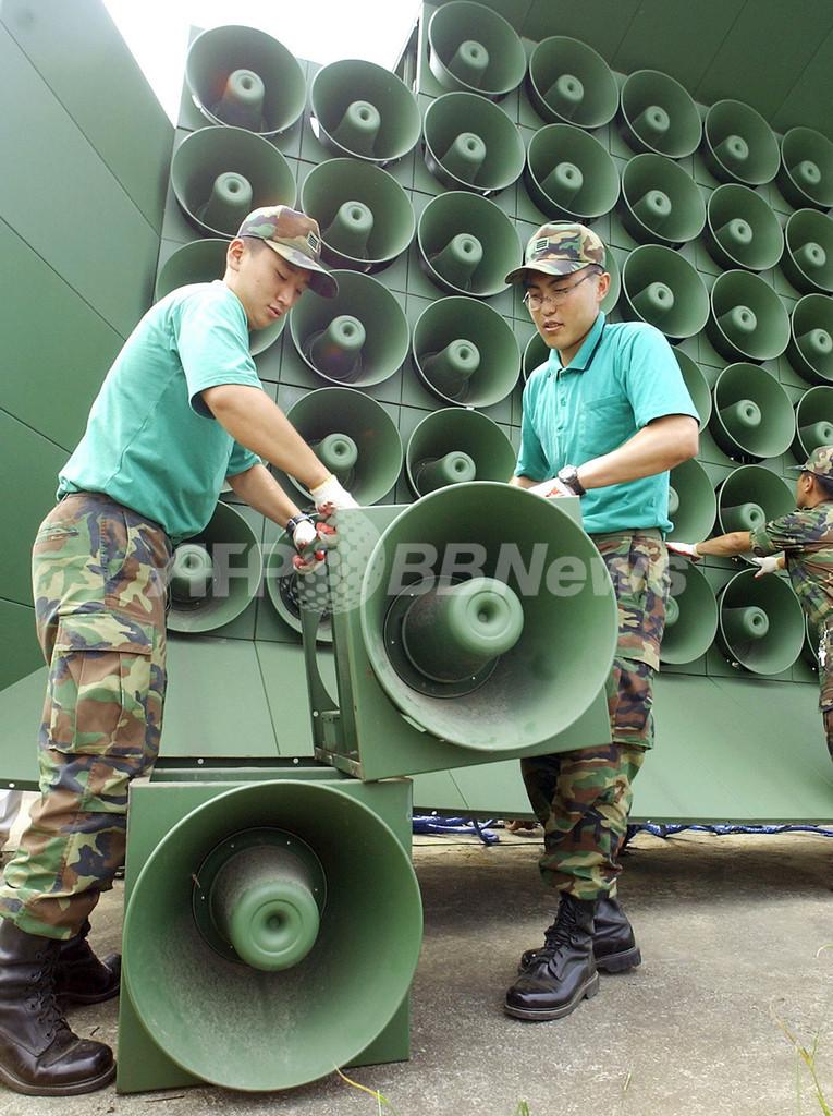 北朝鮮、韓国に拡声器の破壊を警告