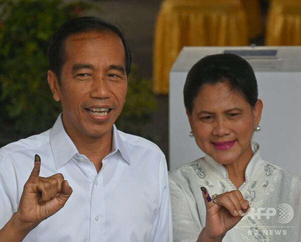 インドネシア大統領選、現職ジョコ氏が勝利、2期目へ 選管発表