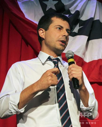 同性愛公表の「神童」市長、米大統領選に出馬表明 37歳ブーティジェッジ氏