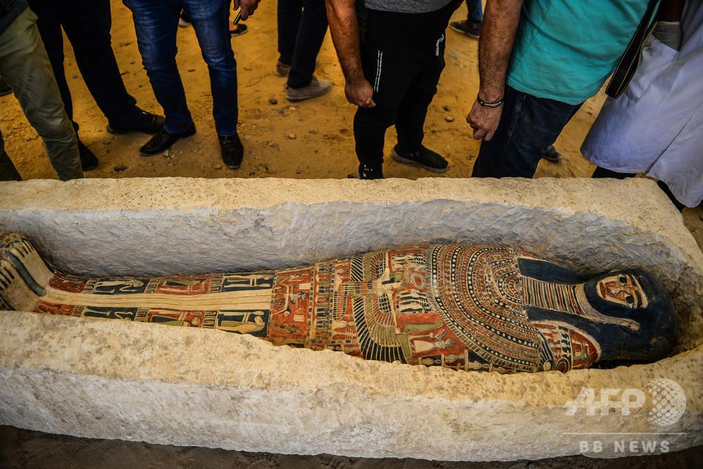 「屈折ピラミッド」の一般公開再開へ 新たな発見物も披露 エジプト
