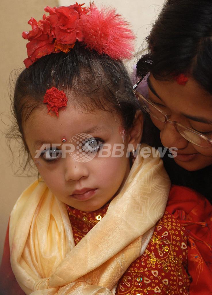 ネパール、3歳の少女が生き神「ロイヤルクマリ」に