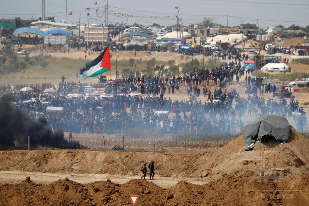ガザ地区の対イスラエル境界での抗議デモ、死者34人に