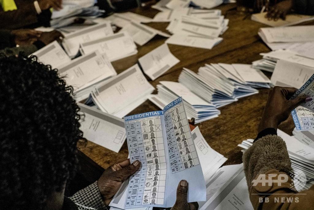 ジンバブエ議会選の中間結果発表、与党が大半の議席獲得 過半数超え