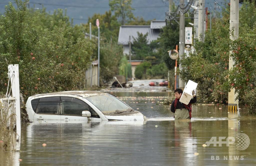 台風19号、死者35人に 各地で懸命の救出活動