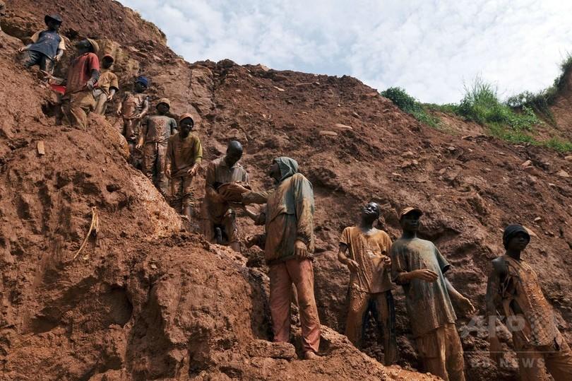 コンゴ民主共和国で金鉱が崩落、20人死亡 違法採掘に従事