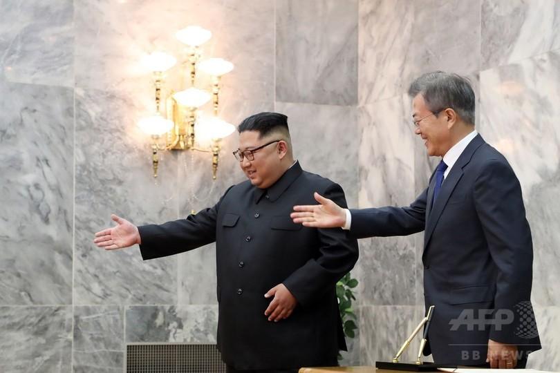 南北首脳「今後も頻繁に会談」、北朝鮮国営通信