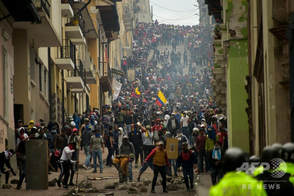 エクアドル抗議デモ激化、原油生産に打撃