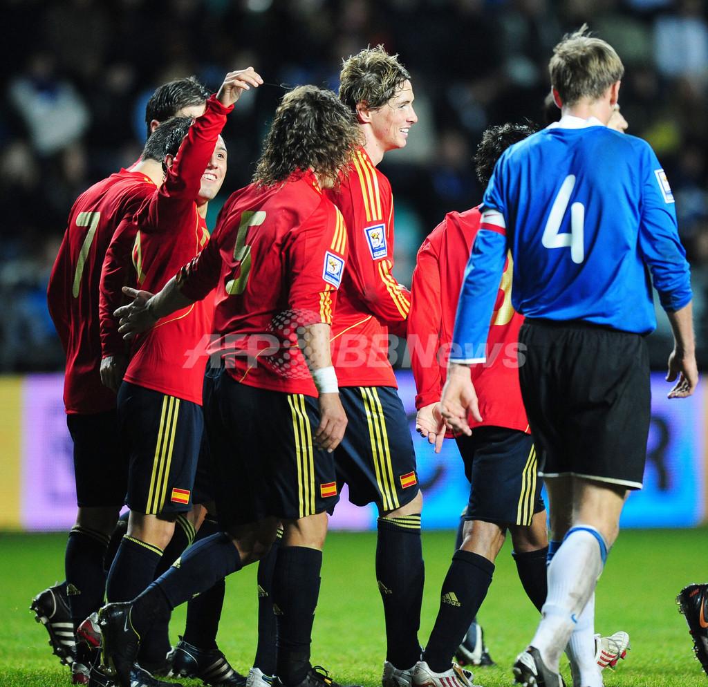 スペイン アウェーでエストニア下し3戦全勝、W杯予選