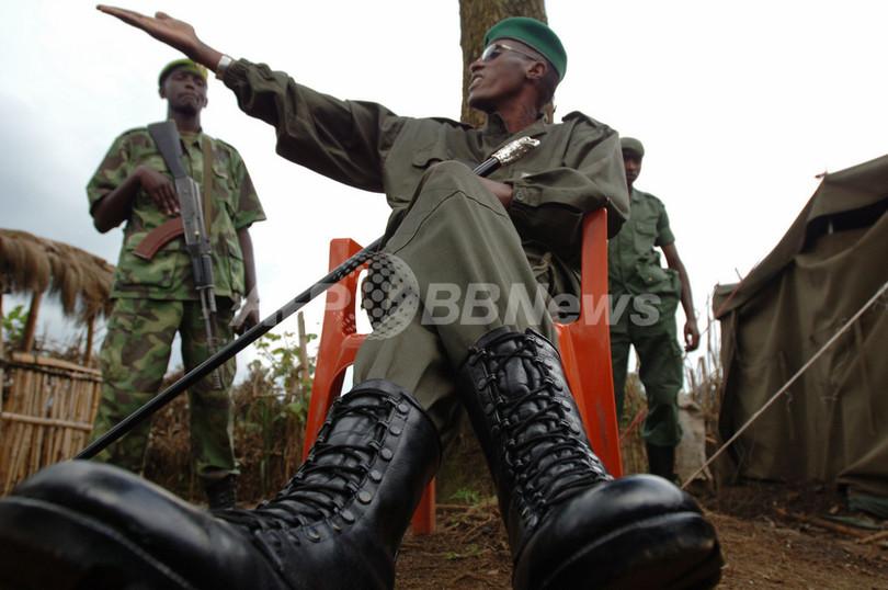 コンゴ民主共和国で反政府勢力に徴兵された子供たちが脱出