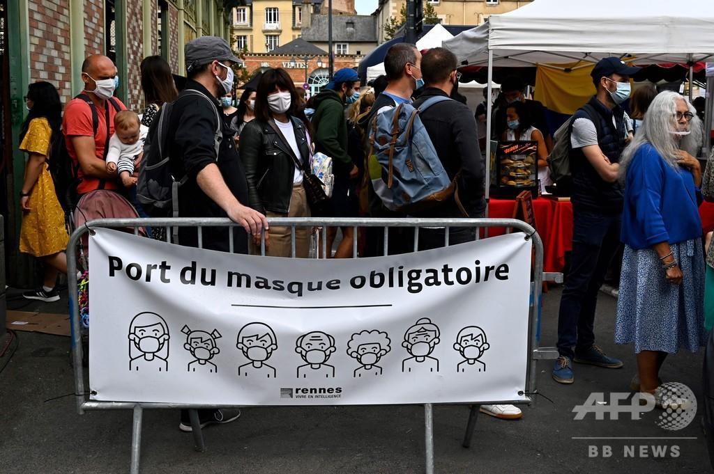 仏コロナ新規感染1万561人、大規模検査開始後で最多