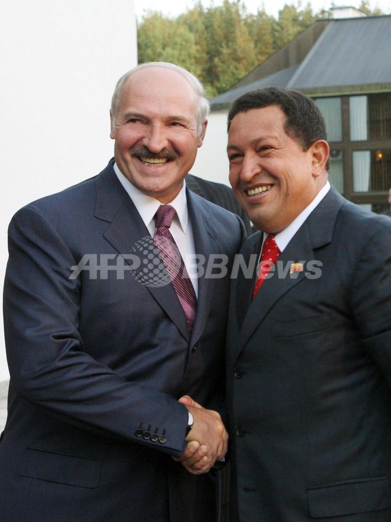 チャベス大統領、反米ジョーク炸裂 「悪の枢軸からのあいさつだ」