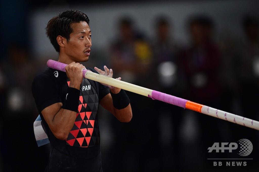 山本聖途、大会新で男子棒高跳び金メダル アジア大会