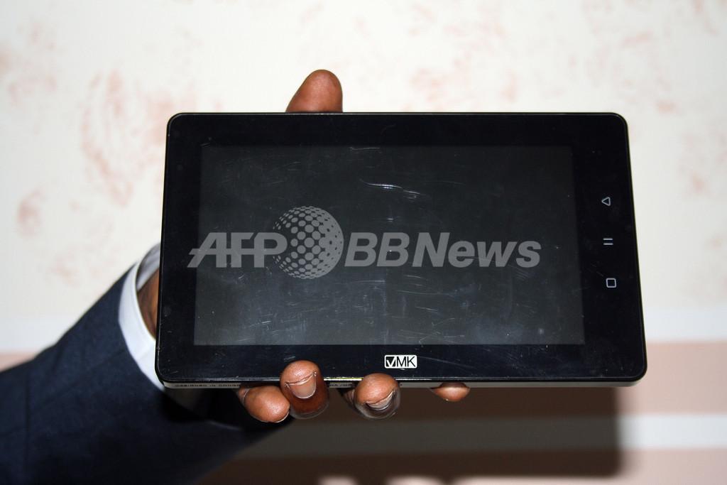 アフリカ初のタブレット型端末、海外展開も コンゴ共和国