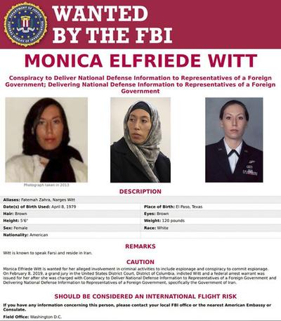 米司法省、元空軍情報将校をイランへのスパイ罪で起訴