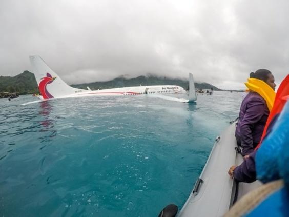 旅客機着水事故、1人の遺体発見 ミクロネシア