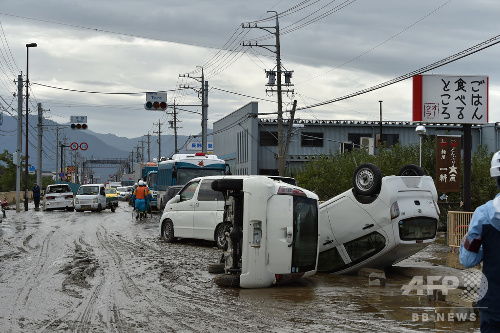 台風19号の死者、56人に NHK報道
