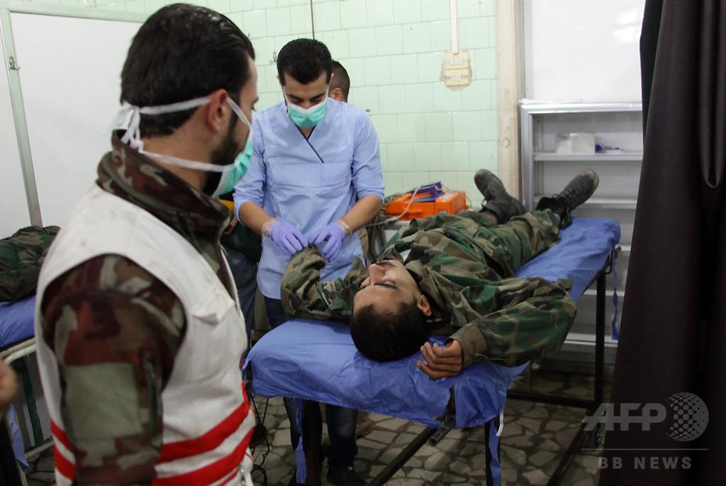 アレッポ西端で反体制派が猛攻、民間人41人死亡 有毒ガスも使用か