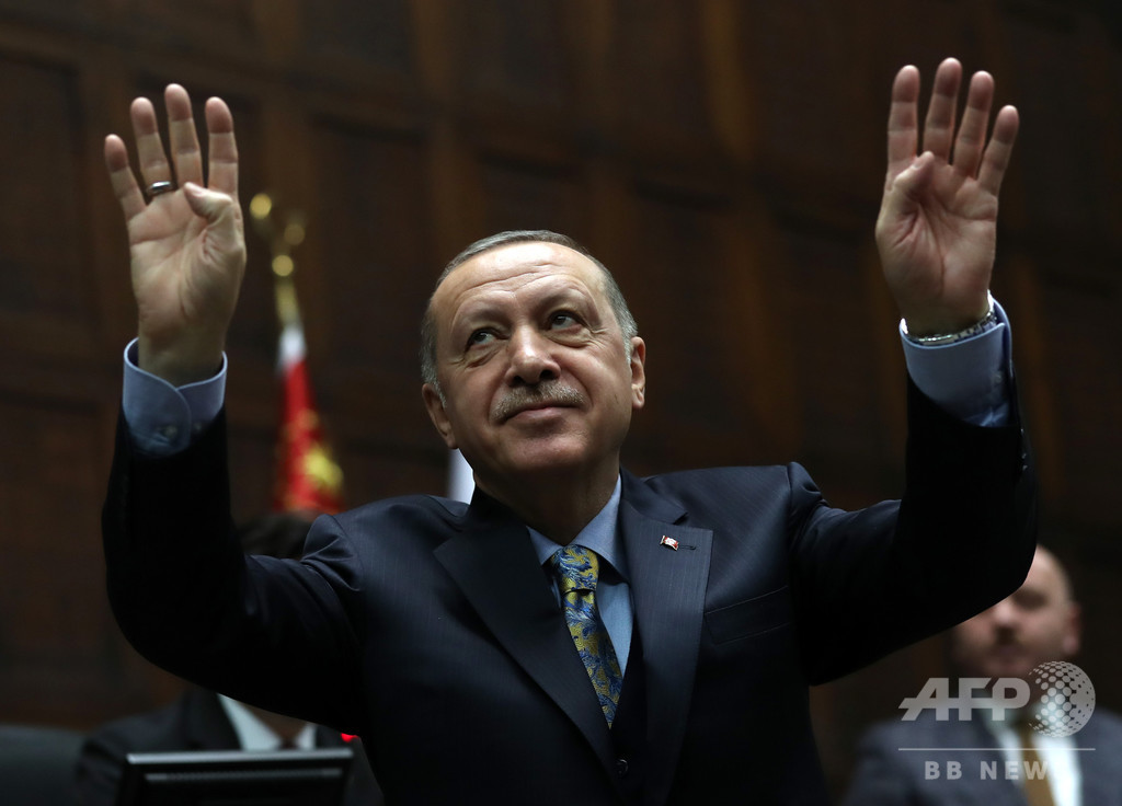 トルコ大統領、シリア北部に「安全地帯」設置の意向表明