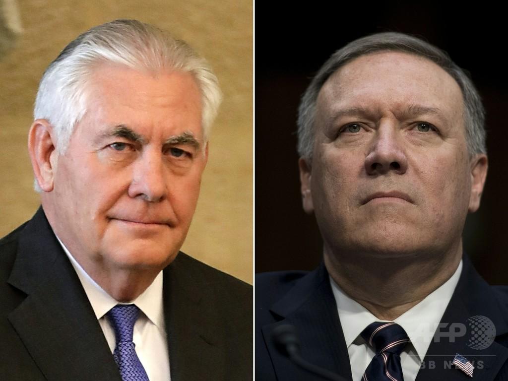 トランプ氏、ティラーソン国務長官を解任 後任に現CIA長官