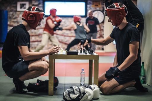 【今日の1枚】頭と体を総動員「チェスボクシング」