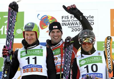 マット 男子スキークロスで優勝、フリースタイルスキー世界選手権
