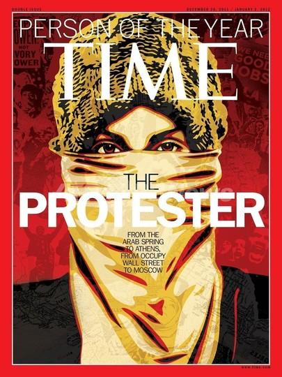 米誌タイムの今年の人は「抗議者」