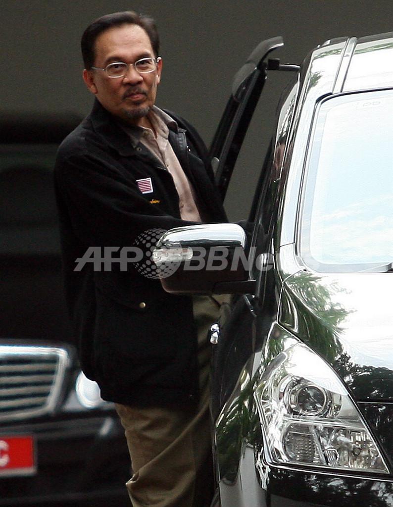 マレーシアの元副首相、避難先の大使館から退去