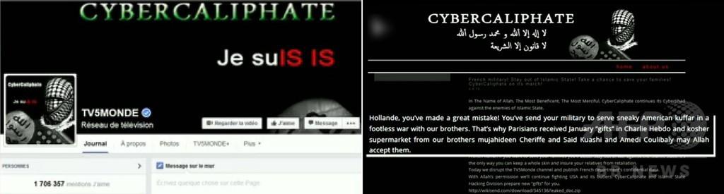 仏テレビ局、IS支持者のサイバー攻撃で放送停止