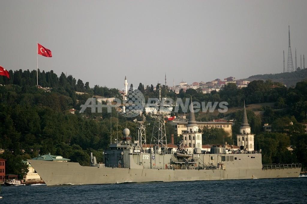 人道支援の米駆逐艦がグルジアに到着