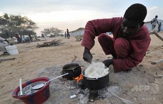 中国から密輸の「プラスチック米」102袋押収、ナイジェリア