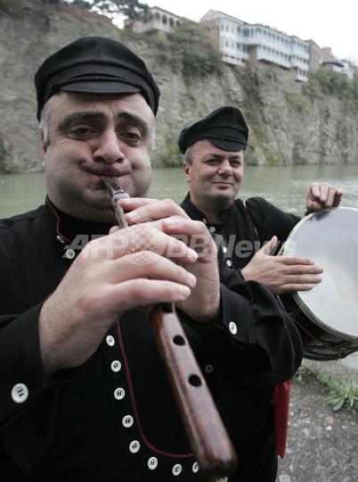 グルジア首都でお祭り