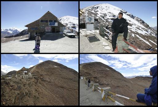 世界最高地のスキー場、温暖化で岩がちな山肌露呈 ボリビア