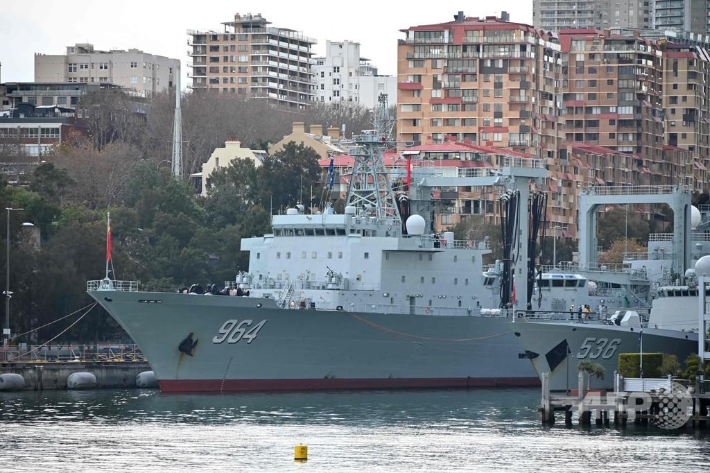 豪シドニー湾に中国軍艦3隻が姿現す、現地騒然