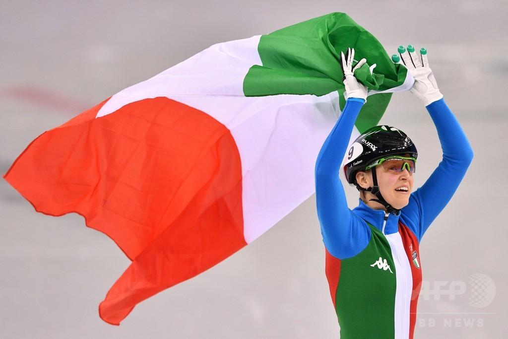 フォンタナがショートトラック女子500mで金メダル、平昌五輪