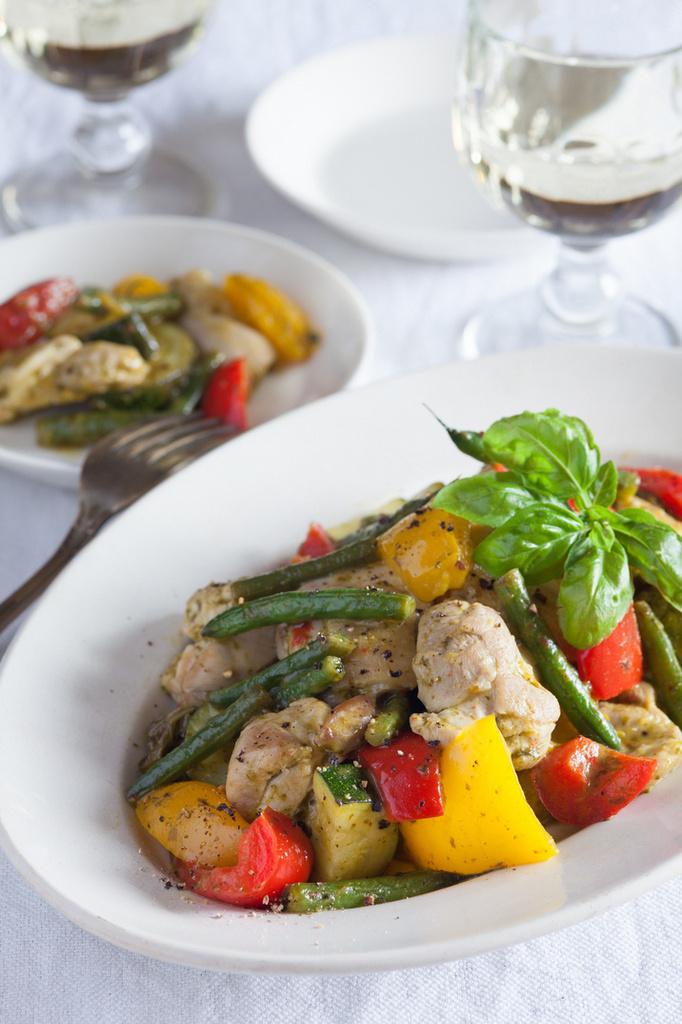 <La Cuillère de marie claire style>第18回 鶏と夏野菜の塩レモン炒め