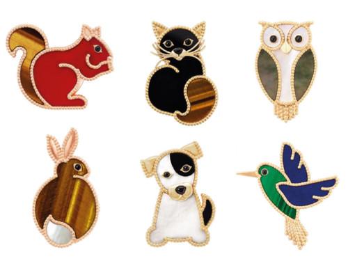 「ヴァン クリーフ&アーペル」愛らしい動物がクリップに、銀座本店で発売