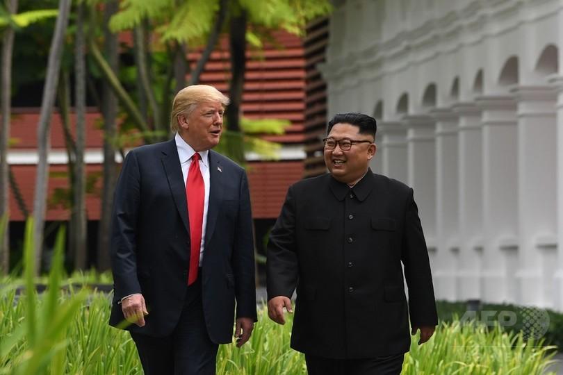 米朝首脳、会談で互いを自国に招待 北の国営通信社が報道