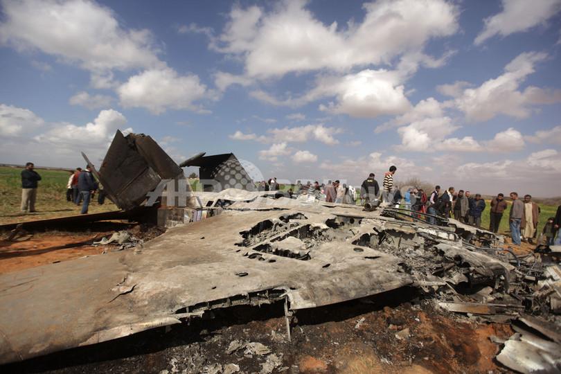 リビアで米F15戦闘機が墜落、搭乗員は救助
