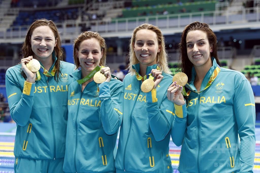 世界新連発の競泳、初日は豪が躍進 米国は金ゼロ