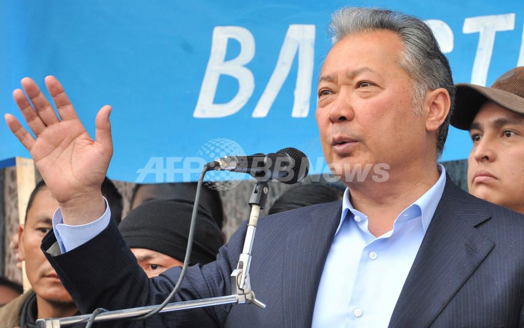 キルギス政変、大統領派集会で発砲 緊張走る