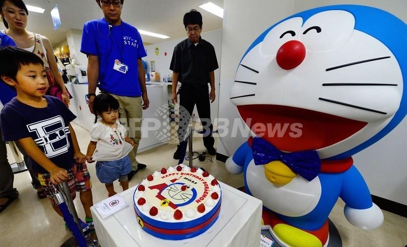 ハッピーバースデー、ドラえもん!ケーキでお祝い 東京タワー