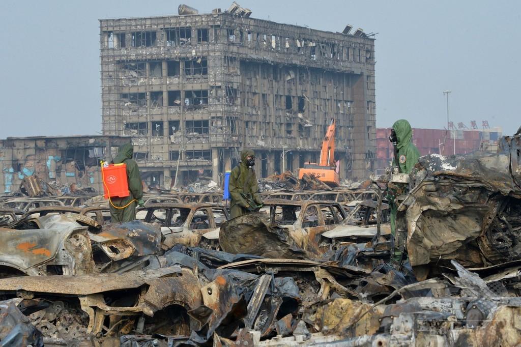 天津爆発、死者129人に 依然44人が行方不明