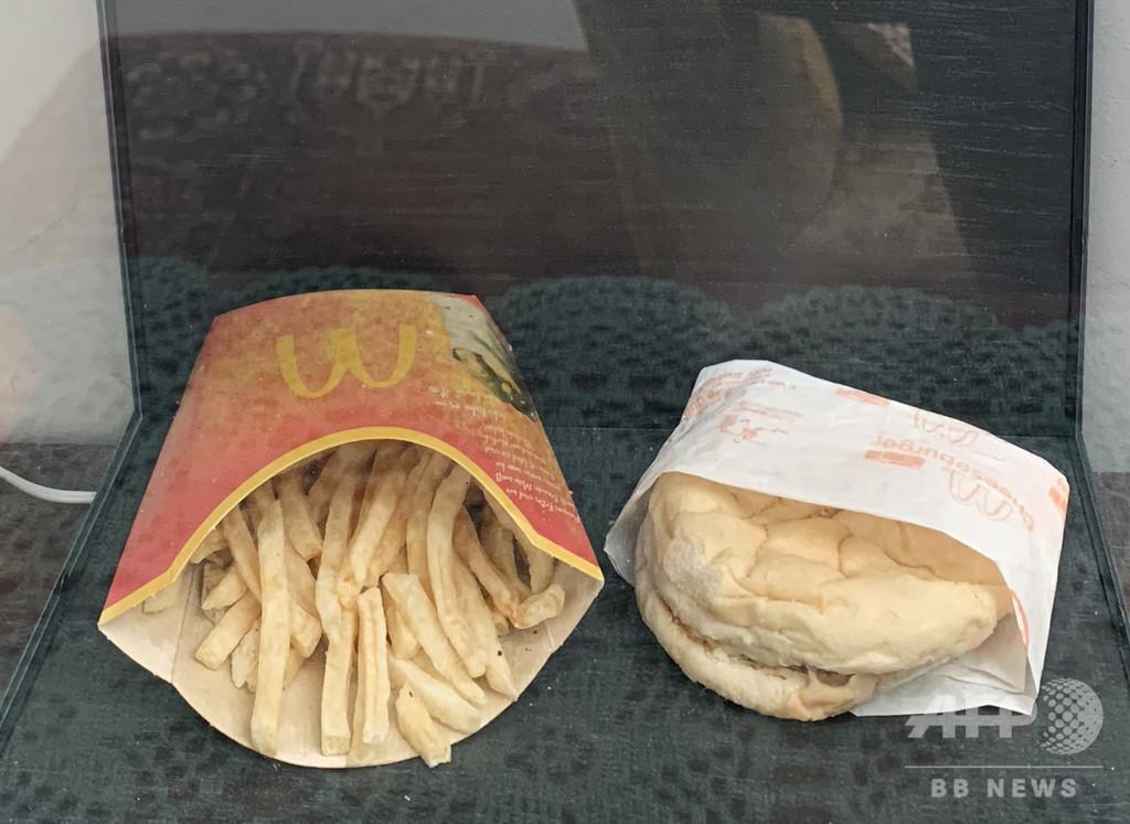「マクドナルドは絶対腐らない」、10年前購入のハンバーガーをライブ配信 アイスランド